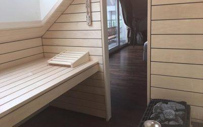 Bio-Sauna mit Dachfenster