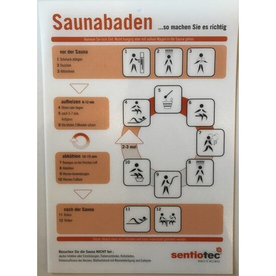 Baderegel Sentiotec - Ging Saunabau AG