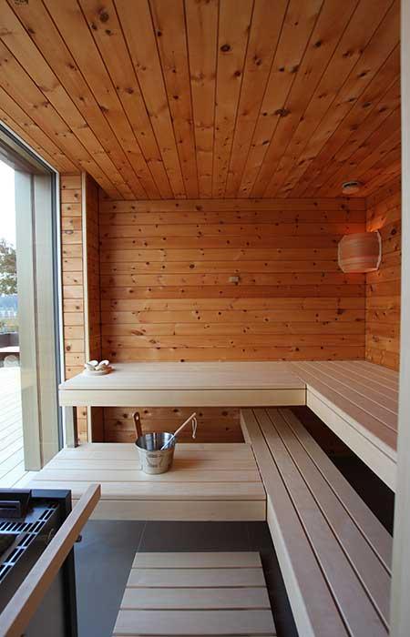 Ging Saunabau AG - Sauna mit Glasfront