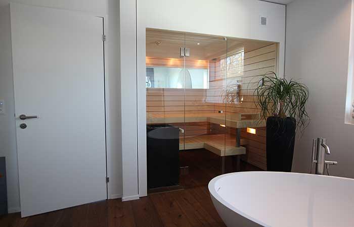 Sauna mit Fenster - Ging Saunabau AG
