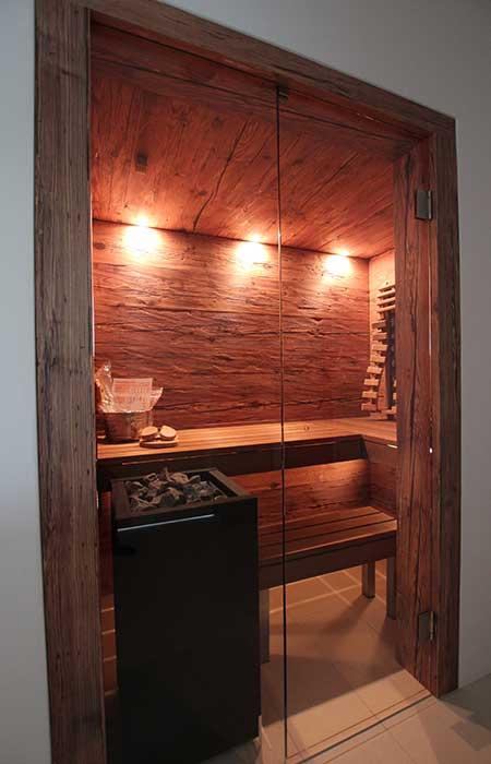 Sauna mit Glasfront - Ging Saunabau AG