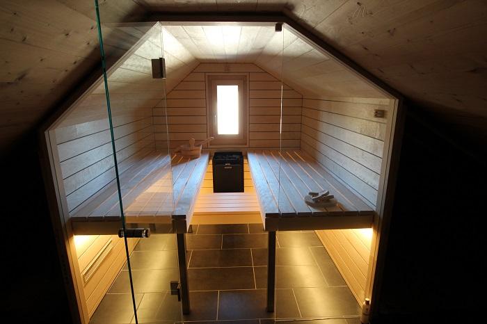 Sauna in Dachschräge - Ging Sauna