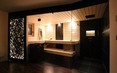 Swiss Made Sauna mit vielen Details